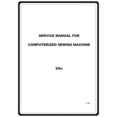 Service Manual, Babylock ESN Encore