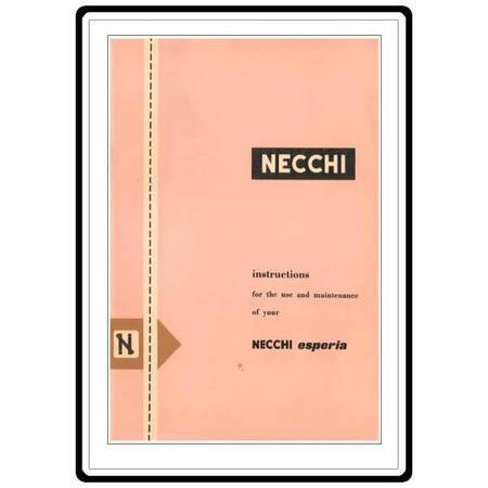 Instruction Manual, Necchi Esperia