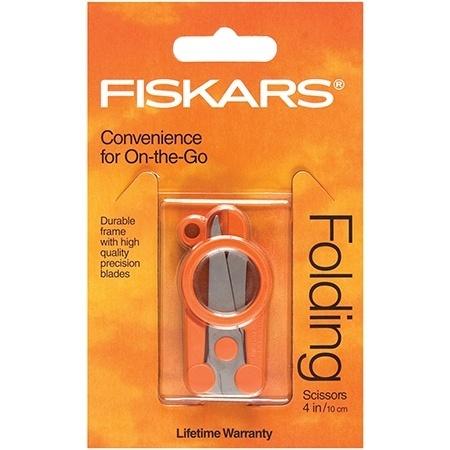 "Fiskars 4"" Compact Folding Scissors #F5434"