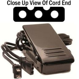 Foot Control w/ Cord, Singer #FC-YUK3S