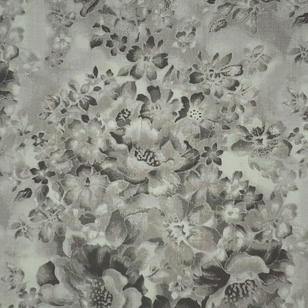 """Faded Floral Quilt Backing 108"""" - Gray Fabric"""