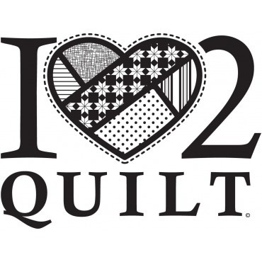 I Heart 2 Quilt, Vinyl Decal