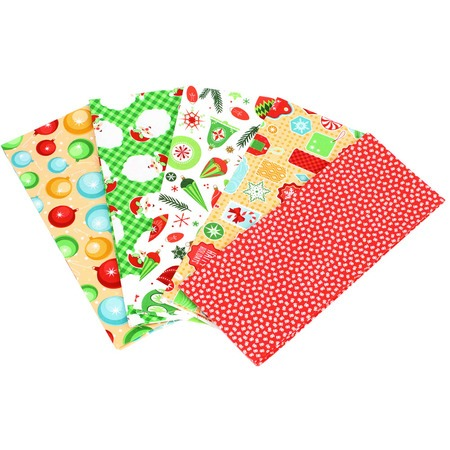 Christmas Fat Quarter Fabric Bundle (5pk), Cartoon