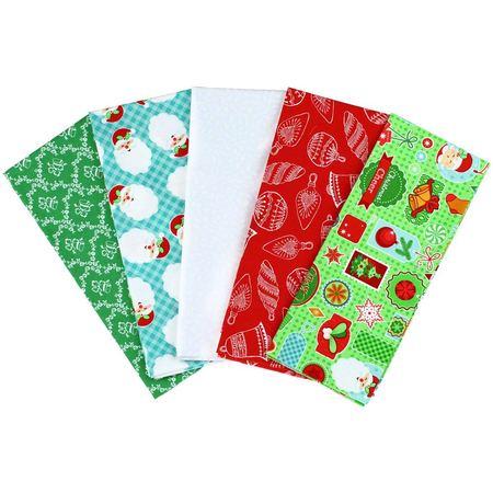 Christmas Fat Quarter Fabric Bundle (5pk), Cartoon