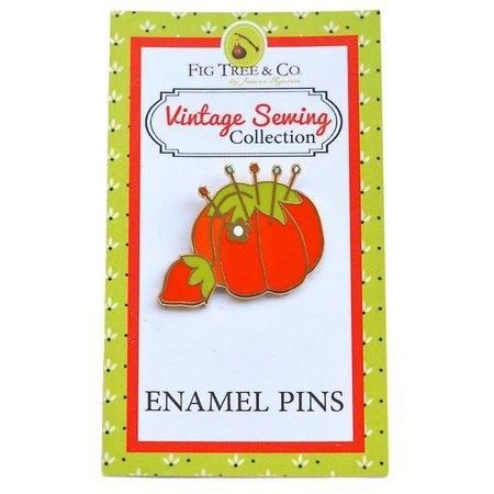 Tomato Pin Cushion Enamel Pin