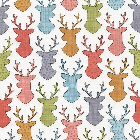 Walk in the Woods, Deer Silhouettes Fabric