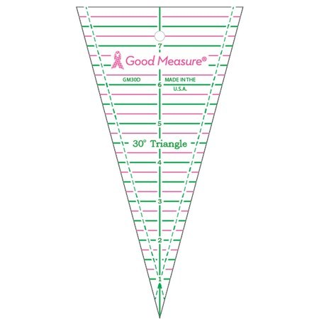 Good Measure 30° Triangle Ruler