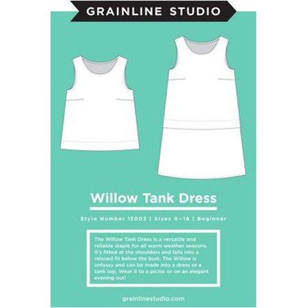 Willow Tank Dress Pattern, Grainline Studio