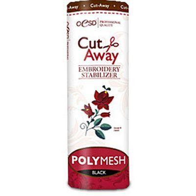 """Polymesh Cut-Away Stabilizer, Black, 10"""" x 10yds"""