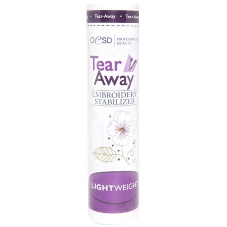 "Lightweight, Tear-Away Stabilizer, White, 10""x10yds"