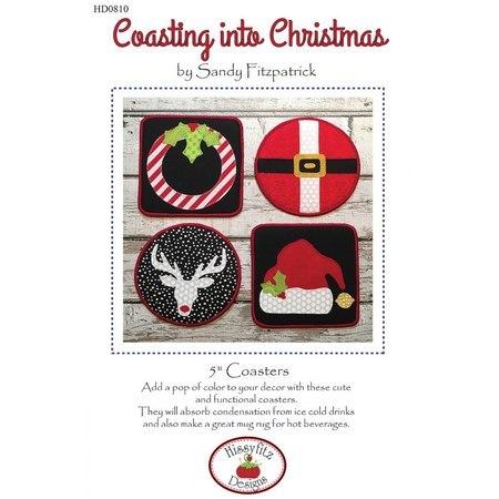 Coasting into Christmas, Coaster Pattern, Hissyfitz Designs