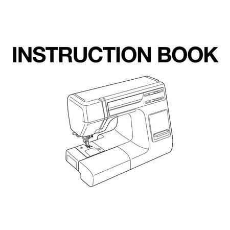 Instruction Manual, Janome HD3000