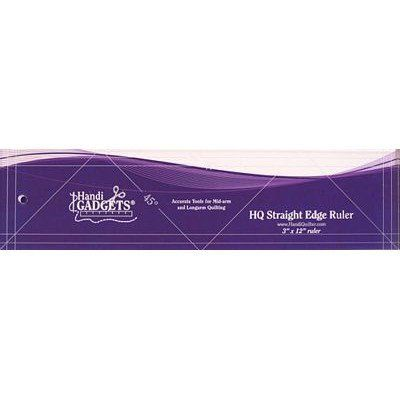 "Straight Edge Ruler 3"" x 12"", HandiQuilter"