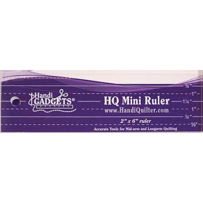 "HQ Mini Ruler 2"" x 6"", HandiQuilter"