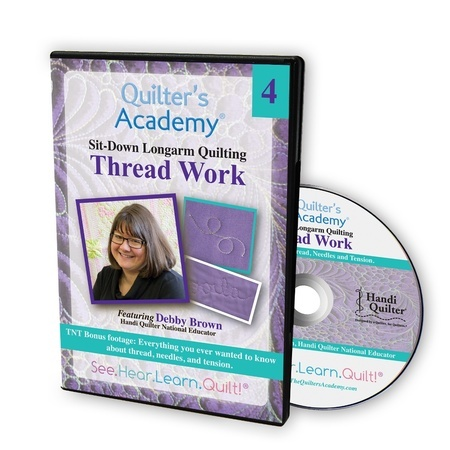 Quilters Academy: Longarm Quilting, Thread Work DVD