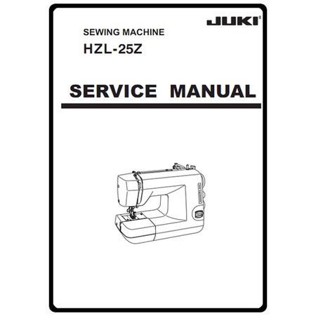 Service Manual, Juki HZL-25Z