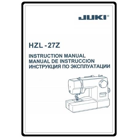 Instruction Manual, Juki HZL-27Z