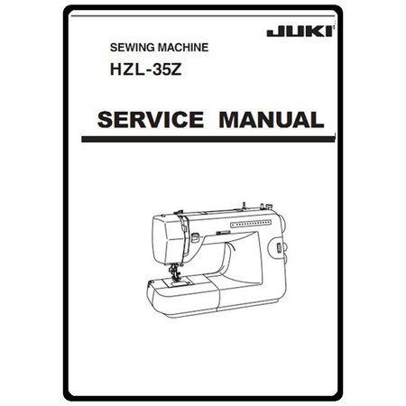Service Manual, Juki HZL-35Z