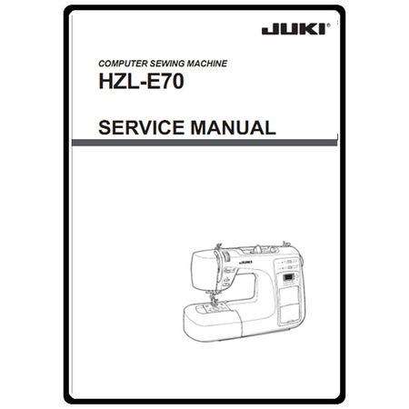 Service Manual, Juki HZL-E70