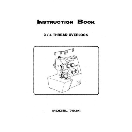 Instruction Manual, White 7934