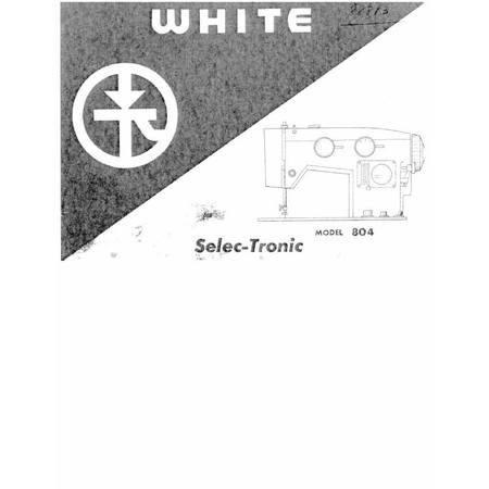Instruction Manual, White 804
