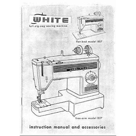 Instruction Manual, White 827
