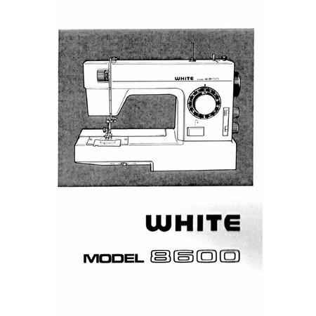 Instruction Manual, White 8600