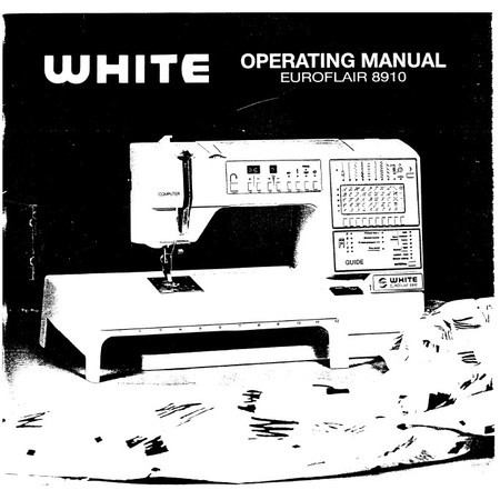 Instruction Manual, White 8910