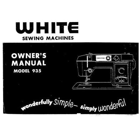 Instruction Manual, White 935