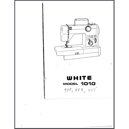 Instruction Manual, White 988