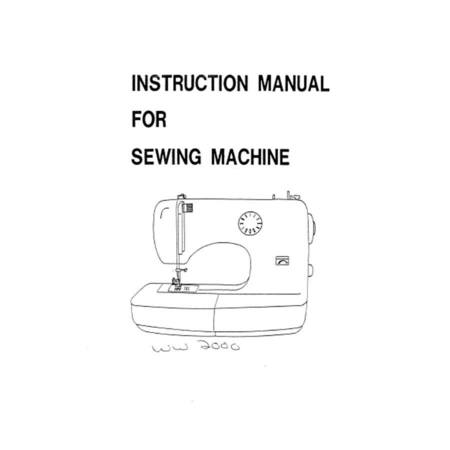 Instruction Manual, White W2000