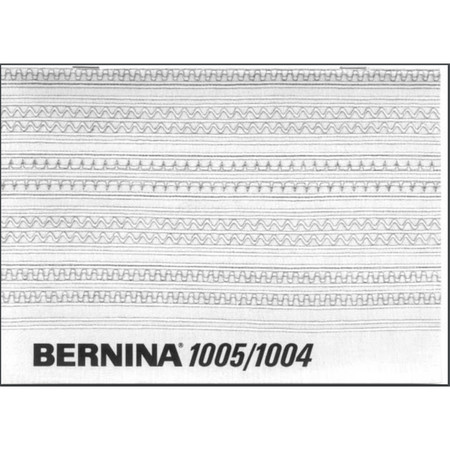 Instruction Manual, Bernina 1005