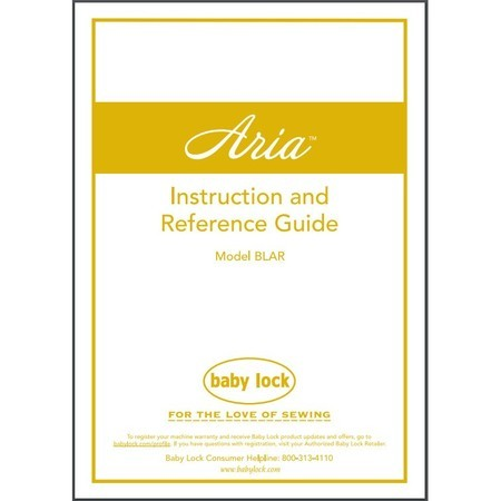 Instruction Manual, Babylock BLAR Aria