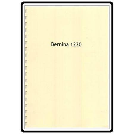 Instruction Manual, Bernina 1230