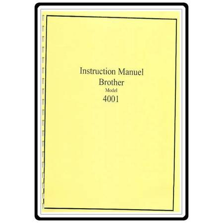 Instruction Manual, Brother XL-4001