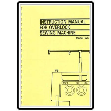 Instruction Manual, Brother 626D