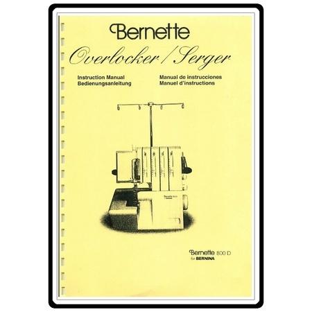 Instruction Manual, Bernette 800D