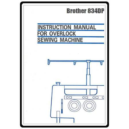 Instruction Manual, Brother 834DP