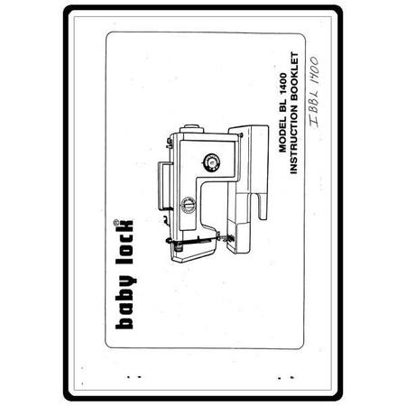 Instruction Manual, Babylock BL1400