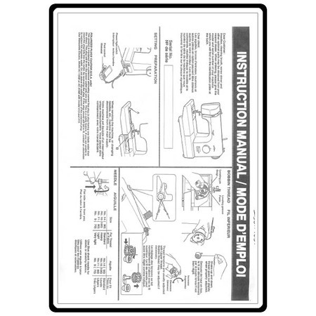 Instruction Manual, Babylock BL1506