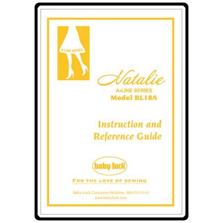 Instruction Manual, Babylock BL18A Natalie