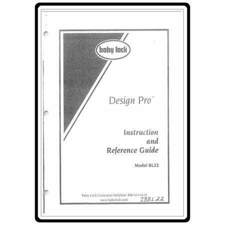 Instruction Manual, Babylock BL22 Design Pro