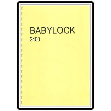 Instruction Manual, Babylock BL2400