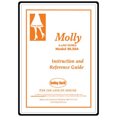 Instruction Manual, Babylock Molly A-Line BL30A