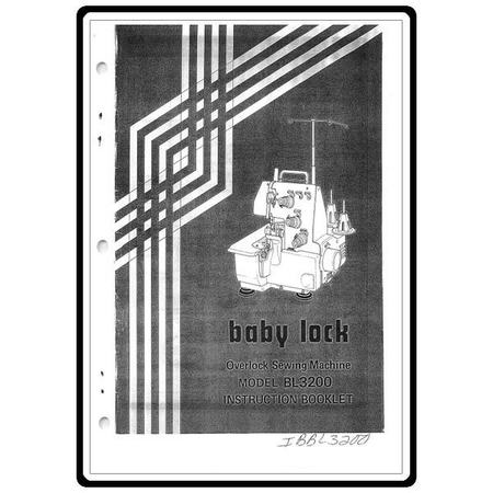 Instruction Manual, Babylock BL3200