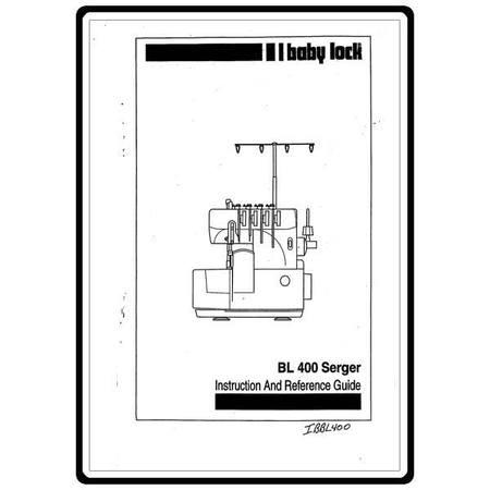 Instruction Manual, Babylock BL400