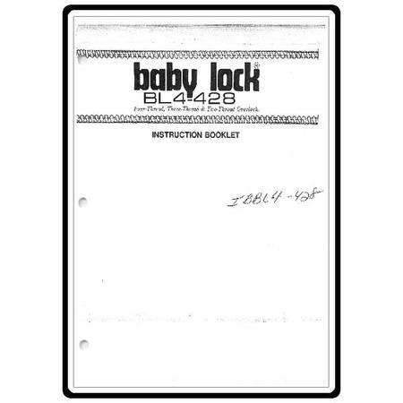 Instruction Manual, Babylock BL4-428