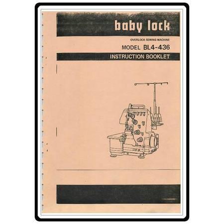 Instruction Manual, Babylock Overlock BL4-436