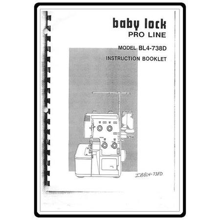Instruction Manual, Babylock BL4-738D