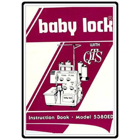 Instruction Manual, Babylock BL5380ED